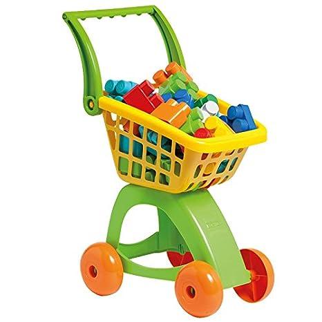 Molto 13456 - Carro de la compra con 30 bloques (amarillo/verde)