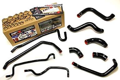 HPS 57-1429-BLK Black Silicone Radiator Coolant//Heater Hose Kit