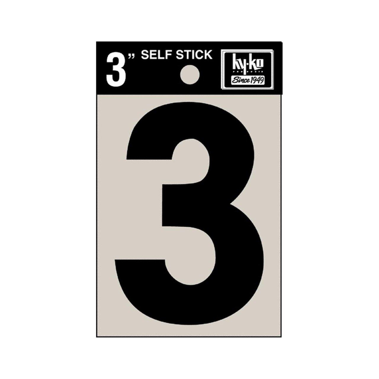 hy ko self adhesive vinyl number black 3 pack of 10 house