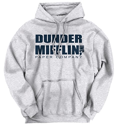 Brisco Brands Dunder Mifflin Paper Company The Office TV Show Funny Humor Hoodie Sweatshirt