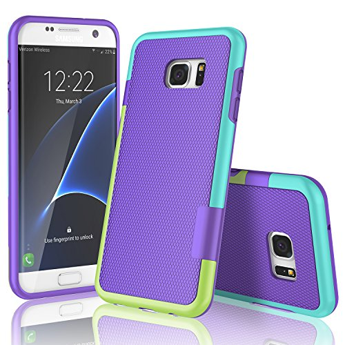 Galaxy S7 Edge Case, TILL(TM) Ultra Slim 3 Color Hybrid Impact Anti-slip Shockproof Soft TPU Hard PC Bumper Extra Front Raised Lip Case Cover for Samsung Galaxy S7 Edge G935 (Lip Cell Phone Case)