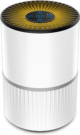 Purificador de Aire Alergia con Filtro HEPA y Carbón Activado, con Filtración de 4 Capas y Función de Temporizador,Aromaterapia, Luz Nocturna y Temporización para Mascotas/Humo/Polvo: Amazon.es: Hogar