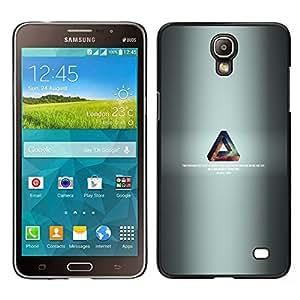 TaiTech / Prima Delgada SLIM Casa Carcasa Funda Case Bandera Cover Armor Shell PC / Aliminium - Triángulo de la galaxia - Samsung Galaxy Mega 2