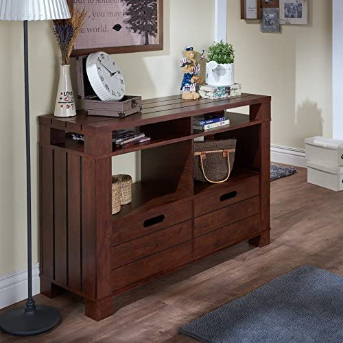 South Shore Noble Corner Stand-Fits TVs Up to 55 Wide-Gray Maple