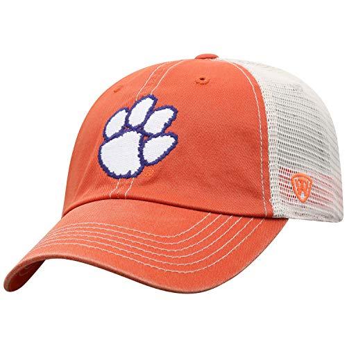 (Top of the World NCAA Clemson Tigers Men's Vintage Mesh Adjustable Icon Hat,)