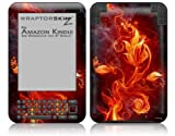 Fire Flower - Decal Style Skin fits Amazon Kindle 3 Keyboard (with 6 inch display)