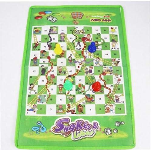 Case&Cover Juegos Culebra de Escalera Adultos Niños Juguetes Juego de Mesa Vuelo ajedrez Fiesta Familiar Juguetes educativos Divertido Juguete para los niños del paño: Amazon.es: Hogar
