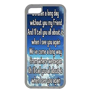 Wishing iphone 5c case,Protective soft Interior Scratch Protection Metallic Finished Base with Colorful Style,rubber Case for iPhone 5c,see you again