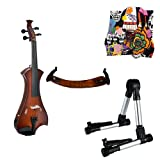 Meisel Electric Violin Pack Sunburst w/Silver Stand, Tuner & Skull Rosin