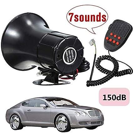 Amazon.com: ZHQUN 150dB 100W Loud Car Warning Alarm Police ...