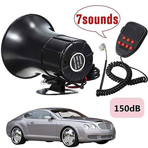 LZLAN 150dB 100W Loud Car Warning Alarm Police Fire Siren Safe Horn PA Speaker System (Size Show)