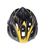 Andoer Sports Bike Bicycle Cycling Safety Helmet with Visor Carbon Fiber for Adult (Yellow)