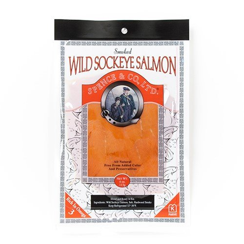 Wild Sockeye Smoked Salmon by Spence and Co. (4 ()