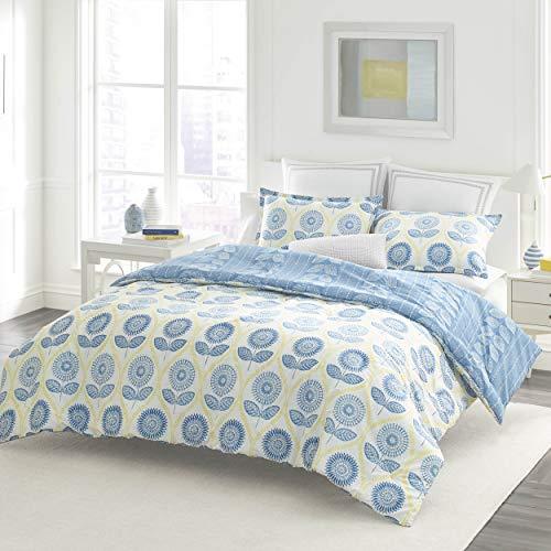 Laura Ashley Sunflower Comforter Set, Full/Queen, Blue