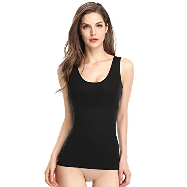8b72bf3331aa5d Women s Shapewear Tank Top Camisole Seamless Smooth Shaping Cami Body  Shaper Tanks