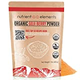 Cheap Organic Goji Berry Powder- 1 lb/16oz (454g) – USDA Certified – Great With Water, Smoothies, Shakes – Natural Superfood – NON-GMO Berries with Resealable Bag by Nutrient Elements – Free Recipes E-Book
