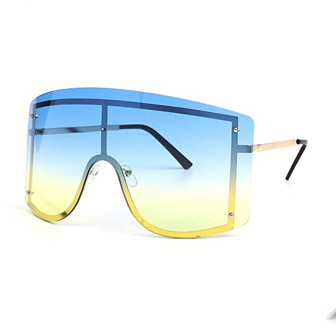 Amazon.com: MINCL/Fashion Gafas de sol de gran tamaño, color ...