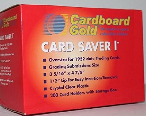 200ct Card Saver 1 in RED Storage BOX - Cs1 Graded Card Submits By Cardboard Gold