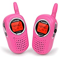 Walkie Talkies for Kids, 2 Way Radio 3 Miles UHF Walkie Talkies 22 Channel FRS/GMRS Kids Walkie Talkies (1 Pair) Pink, Toys for 5-year Old Boys and Girls