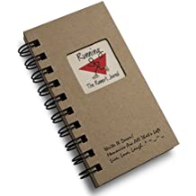 Running, A Runners Journal - MINI Kraft Hard Cover (prompts on every page, recycled paper, read more...) by Journals Unlimited Write it Down Series