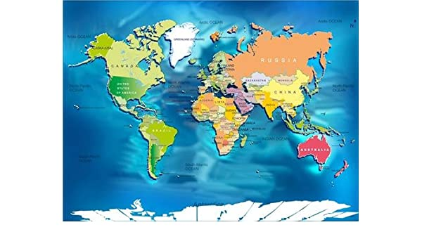 Amazon.com: WORLD MAP W/ COUNTRIES GLOSSY POSTER PICTURE PHOTO