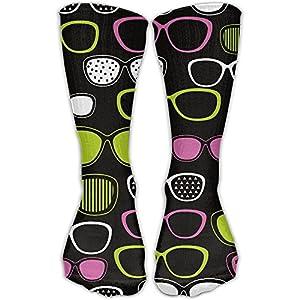 ZqCr Eyeglasses Pop Art Novelty Cotton Crew Socks Fashion Ankle Dress Socks For Men&Women
