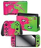 "Cheap Controller Gear Skin & Screen Protector Set Splatoon 2 ""Pink/Green"" – Nintendo Switch"