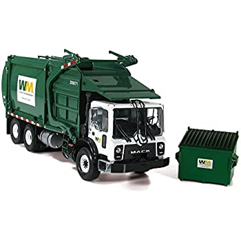 K Mr W Heil Side Load Refuse Garbage Truck Waste Management With Bins By First Gear This Item Is For Collectors Display Purposes Only