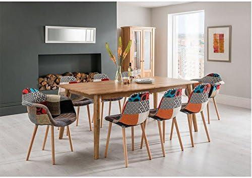 Brondby madera grande cocina mesa de comedor con juego de 8 sillas ...