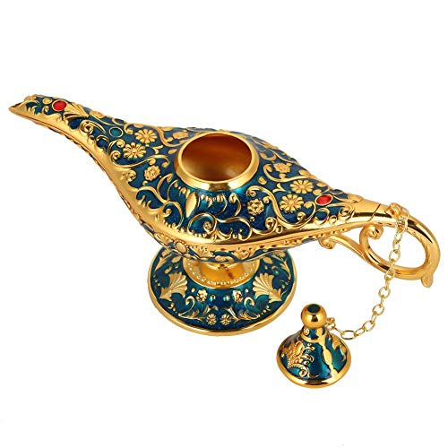 Hilitand Collectable Rare Classic Vintage Aladdin Magic Genie Home Teapot Oil Lamp Decoration & Gift(Transparent -