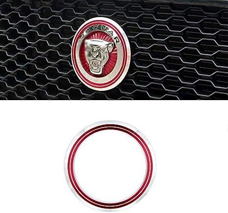 D28jd Logo Emblem Für Kühlergrill Dekorativen Kreis Aluminiumlegierung Buchstaben Aufkleber Für J Aguar Xel F Pace Xfl Xe Rot Küche Haushalt