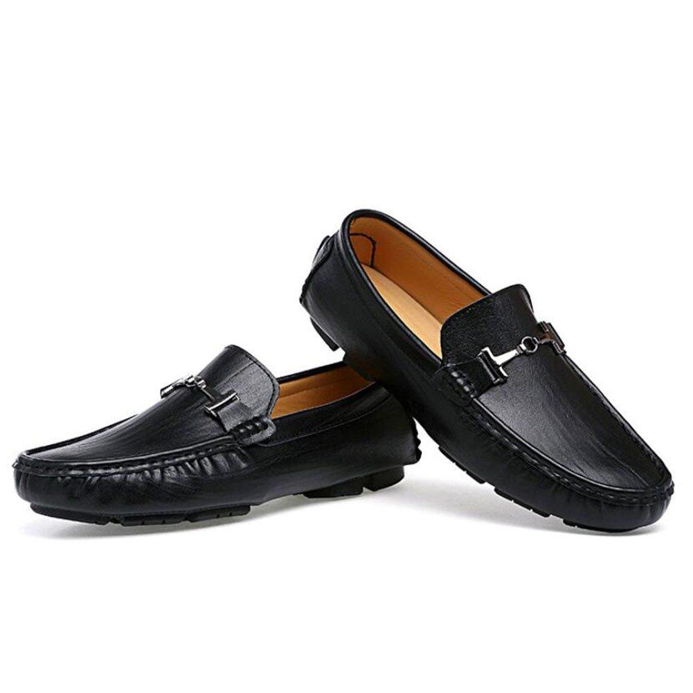 34ebb206d3f378 ... Männer echtes Leder Loafers Frühling Herbst Herbst Frühling Faule Schuhe  Mens Comfort Stiefelschuhe Fahr Schuhe täglich ...