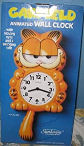 Amazon Com Garfield Animated Wall Clock With Moving Eyes