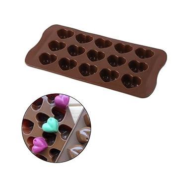 Farbe Pink Blue Fox Silikonform Herzchen Praline Silikon Herz Eisw/ürfel Schokolade Form S/ü/ßigkeiten Dekoration F/örmchen Bonbon Schoko Verzierung K/üchenhelfer Cake-Mold Eisw/ürfelform Silicone