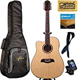 LEFTY Oscar Schmidt Acoustic/Electric 12 String Guitar, Gigbag Bundle