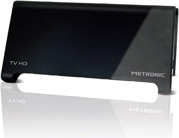 Metronic 416997 - Antena TV de interior (HD, 40 dB), negro