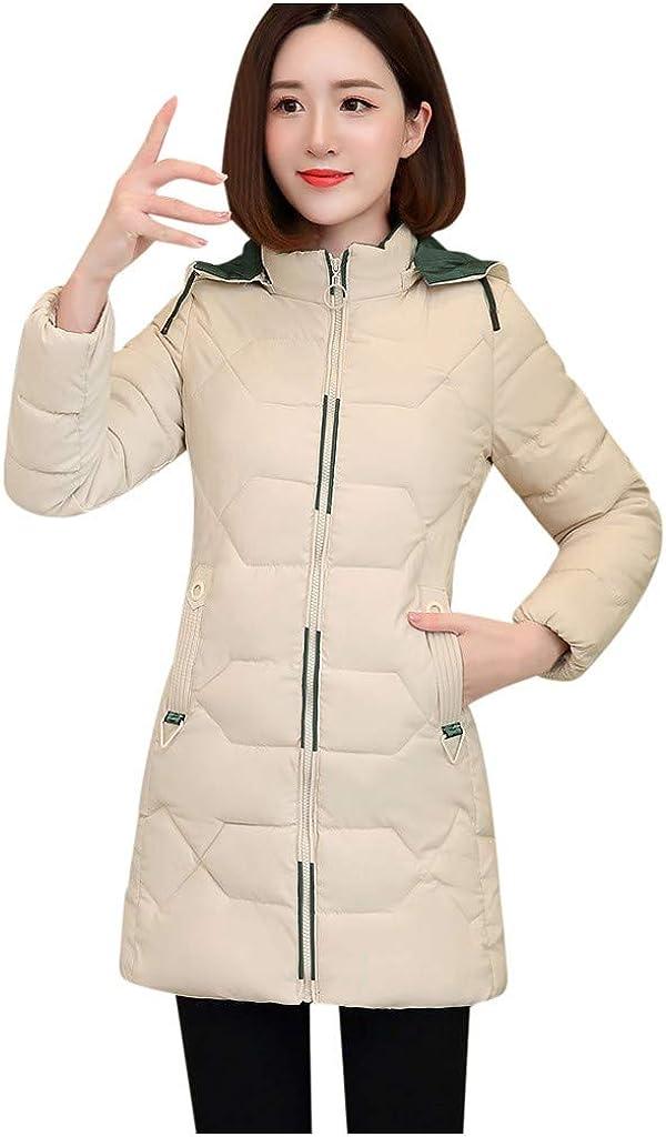 Yajiemen Fashion Women Winter Warm Cotton Hooded Winter Jacket Long-Sleeved Coat