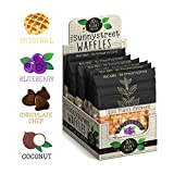 Sunnystreet Waffles Organic Plant Protein Healthy Waffle 8 Variety Gourmet Pack Snack Mix: 2x Original 2x Blueberry 2x Coconut 2x Chocolate