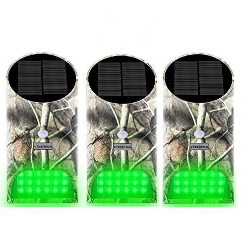 Vizzlema Feeder Hog Light Outdoor Solar Feeder Light for Hunting with Motion Sensor and Green Light for Game Animal…