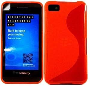 S-Line Gel Concha Caso Cubrir Y Protector De Pantalla Para Blackberry Z10 / Red
