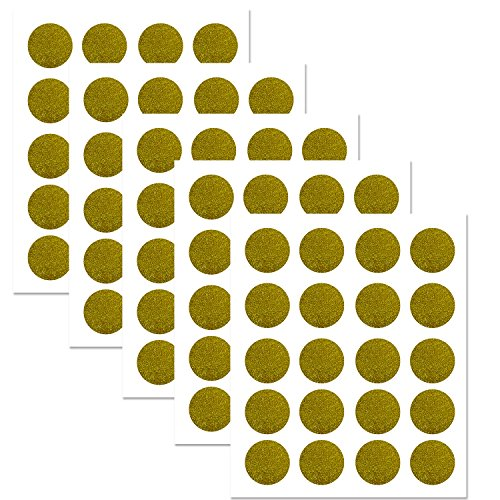 - PARLAIM Sparkly Gold Polka Dots Wall Decals Circles, Removable Polka Dot Decor Wall Stickers with Gift Packaging for Kids Room,Living Room,Bedroom (Gold,2 inch x 100 Circles)