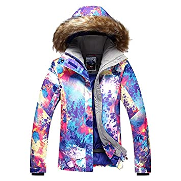 612a83ddd4 Toogou GSOU SNOW Women s pink ski suit female pink violet fur collar riding  hiking snow ski