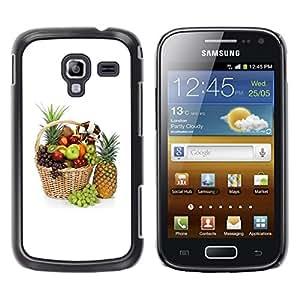 Caucho caso de Shell duro de la cubierta de accesorios de protección BY RAYDREAMMM - Samsung Galaxy Ace 2 I8160 Ace II X S7560M - Fruit Macro Beautiful Fruits