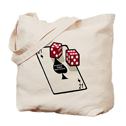 CafePress–Vegas 21st regalo de cumpleaños–Gamuza de bolsa de lona bolsa, bolsa de la compra Small caqui