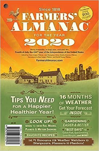 Farmers Almanac Best Days 2020 Farmers' Almanac 2020: Peter Geiger, Sondra Duncan: 9781928720348