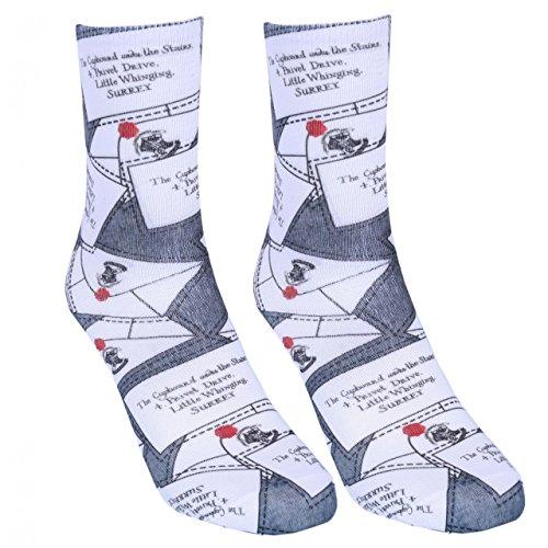 1 x Calcetines grises cartas de HARRY POTTER: Amazon.es ...