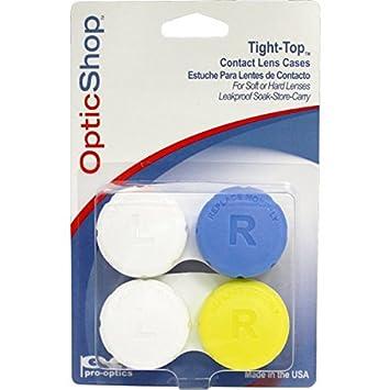 Amazon.com: Optic Shop Tight-Top Contact Lens Case, 2 Piece ...