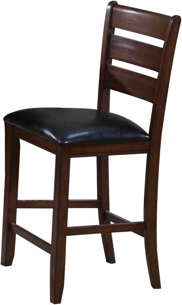 ACME Set of 2 Urbana Counter Height Chair, Cherry Finish