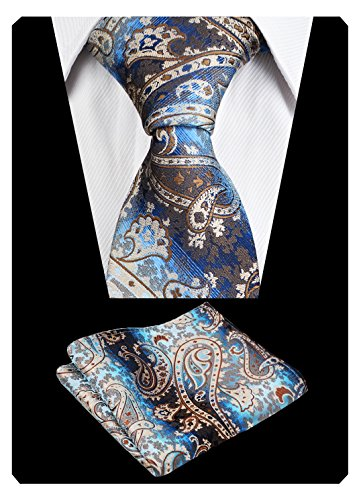 Paisley Champagne Mens Set Hanky Necktie Tie Alizeal with Floral ZpEKRqvKwz
