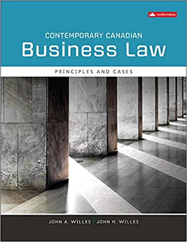 Contemporary Canadian Business Law, 12th Edition